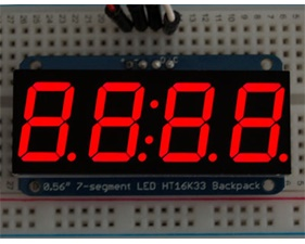 Adafruit 0.56 4-Digit 7-Segment Display w/I2C Backpack - Red