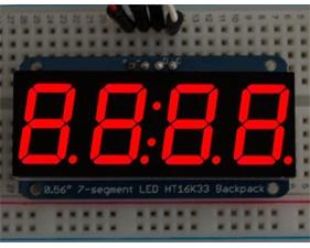Adafruit 0.56 4-Digit 7-Segment Display w/I2C Backpack - Red