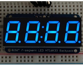 Adafruit 0.56 4-Digit 7-Segment Display w/I2C Backpack - Blue