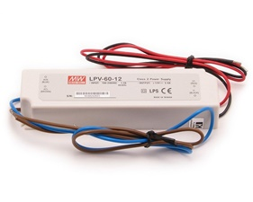 Transformer LED 12V 5A / 60W - IP67 - Mean Well