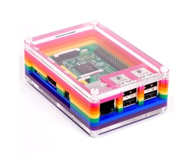 Pibow Rainbow - Enclosure for Raspberry Pi 3, Pi 2 and Model B+