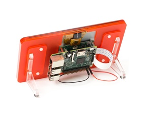 Raspberry Pi 7 Touchscreen Display Frame - Tangerine