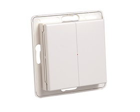 Wall transmitter 2-channel, On / Off and dimmer, 3-way switch function - ELKO / Exxact look alike - Nexa WTE-2