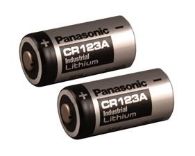Batteri Lithium 3V CR123A 2-pack