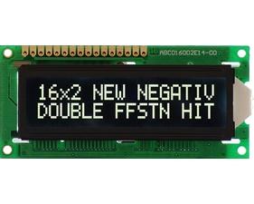 HD44780 16X2 Character LCD Display - Vit Text Svart Bakgrund