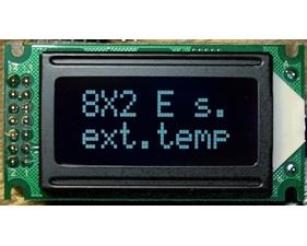 HD44780 8X2 Character LCD Display - Vit Text Svart Bakgrund