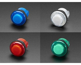 Arcade Button with LED - 30mm Translucent