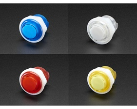 Mini Arcade Button with LED - 24mm Translucent