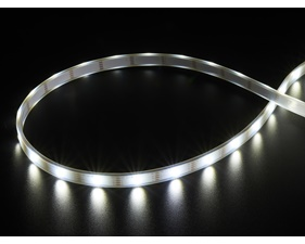 DotStar APA102 Digital LED Strip - Cool White (~6000K) - 30 LED (White PCB) - 1m
