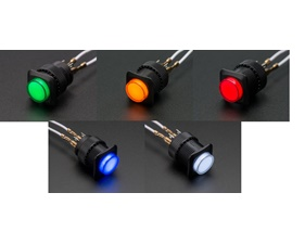 Illuminated Pushbutton 16mm - Latching On/Off Switch
