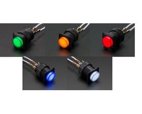 Illuminated Pushbutton 16mm - Latching On/Off Switch