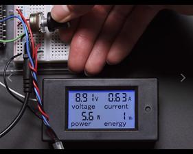 Large Panel-Mount Digital Power Meter - 6.5V to 100VDC up to 20A