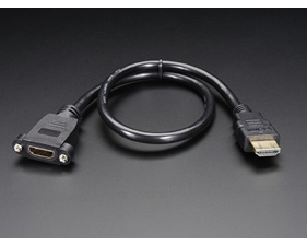 Panel mount HDMI Cable - 40 cm