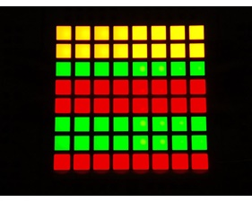 Small 1.2 8x8 Bi-Color (Red/Green) Square LED Matrix