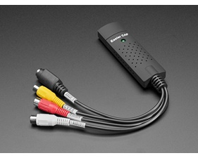 RCA NTSC or PAL or S-Video Input to USB 2.0 Capture Adapter