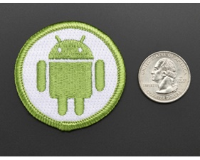 Android - Skill badge, iron-on patch (50mm)