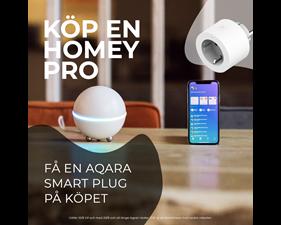 Homey Pro + Aqara Smart Plug på köpet