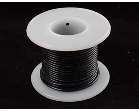 Hook-up wire spool - Black- 25 ft (7,5m)