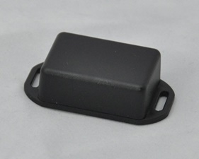 Plastic box small, Black With Brackets