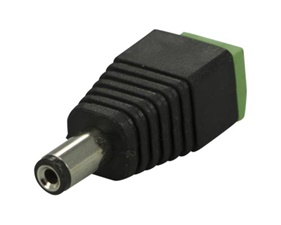 Power supply adapter with screw terminals 5,5/2,1mm - Male