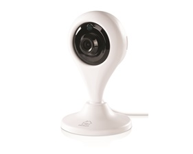 DELTACO SMART HOME network camera for indoor use, WiFi 2.4GHz, 1080p, IR 10m, 1/4 CMOS, microSD, white