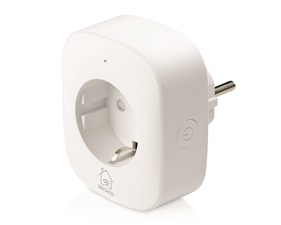 DELTACO SMART HOME power switch, WiFi 2.4GHz, energy monitoring, 1xCEE 7/3, 10A, timer, white