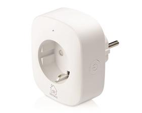 DELTACO SMART HOME strömbrytare, WiFi 2,4GHz, energiövervakning, 1xCEE 7/3, 10A, timer, vit