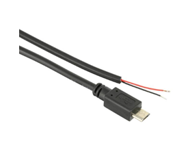 Micro USB type B 2.0 power cable with strand end