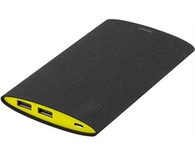Powerbank, slim, 6000mAh, 2x USB Typ A hona, 2,1A, svart