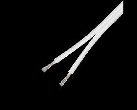 Lågspänningskabel, 2x0,75mm2, Vit