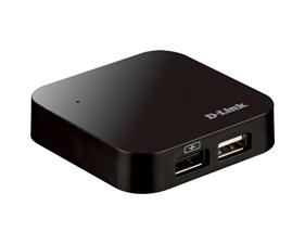 USB 2.0 hub, D-Link 4 portar, med nätadapter