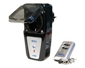 Paket - Pluginbrytare IP44 3500W + fjärrkontroll - Nexa LGDR-3500+LKCT-614