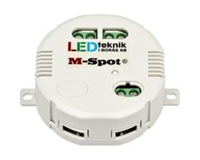 Dimmer fast installation med stöd för extern brytare, 12V, 0-85W - M-SPOT 100 RF