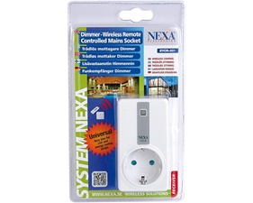 Plugin-dimmer LED/halogen/glödljus 200W - Nexa EYCR-201
