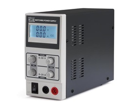 DC lab switching mode power supply 0-30 VDC / 0-10 A with LCD display