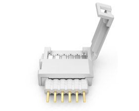 Litcessory Cut-End to 6-Pin Snap connectors 4 pack White