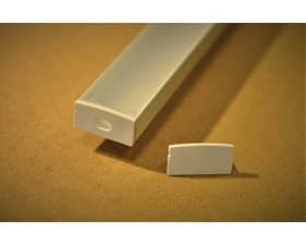 Ändlock till aluminiumprofil för LED-list - 2 st