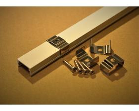 4-pack fästklamrar i metall till aluminiumprofil för LED-list