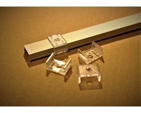 4-pack fästklamrar i plast till aluminiumprofil för LED-list