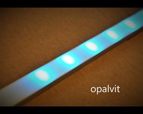 Front till aluminiumprofil för LED-list