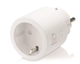 FYND DELTACO SMART HOME strömbrytare, WiFi 2,4GHz, 1xCEE 7/3, 10A, timer, 220-240V, vit