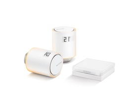 Netatmo Smart Radiator starter kit with 1 control unit and 2 thermostats