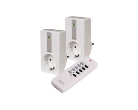 Paket - Pluginbrytare 2x2300W + fjärrkontroll - Nexa EYCR-2