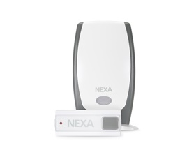 Wireless doorbell with audio signal - Battery powered - Nexa MLR-1105