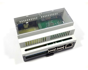 Raspibox Open Plus - DIN rail case for Pi A+, B+, 2 B, 3 B, Zero