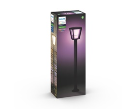 Econic Hue White and Color Ambience Post Svart 15W 230V