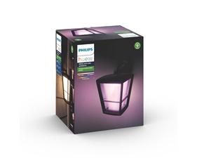 Econic Hue White and Color Ambience Vägglampa - Fäste på ovansidan - Svart 15W 230V