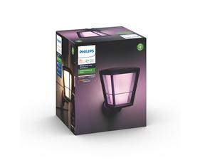 Econic Hue White and Color Ambience Vägglampa - Fäste på undersidan - Svart 15W 230V
