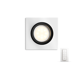 Hue Milliskin recessed spot 1x5.5W - square aluminum colored frame - with Hue Switch