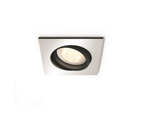 Hue Milliskin infälld spot 1x5,5W White Ambience - fyrkantig aluminiumfärgad ram
